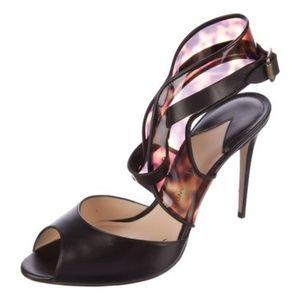Paul Andrew Black & Brown Pvc Sandals
